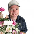 Flower Delivery - Copyspace — Stock Photo