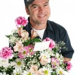 Stock Photo: Friendly Flower Delivery