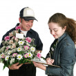 Teen Signs For Flowers - Stock Photo