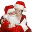 A Hug For Santa - Stock Photo