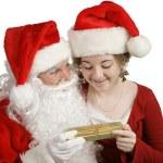 Noel Baba hediyesi — Stok fotoğraf
