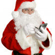 Santa Clause With Personal Computer — Stock Photo