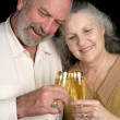 Mature Couple Champagne Toast — Stock Photo
