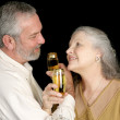 Romatic Champagne Toast — Stock Photo