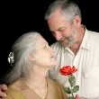 Rose for His Wife — Stock Photo #6816635