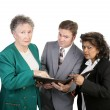Diverse Business Group - Concerned — Stock Photo