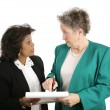 Female Business Team - Discussion — Stock Photo