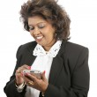 Indian Businesswoman With PDA — Stock Photo