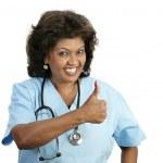 personel medyczny - kciuk w górę — Zdjęcie stockowe