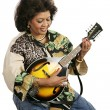 Playing Mandolin — Stock Photo