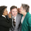 Spreading Office Rumors — Stock Photo