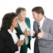 Water Cooler Gossip - Stock Photo