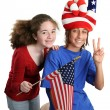 American Kids Vertical — Stock Photo