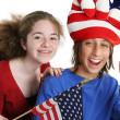 Patriotic American Kids — Stock Photo