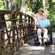 Disabled Seniors in Park — Stock Photo