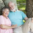 Loving Seniors Embrace — Stockfoto