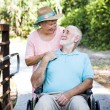 Senior Couple - Caretaker — Stock Photo