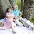 Senior Couple - Romance Under Trees — Stock Photo