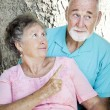Senior Couple - Scolding — Stock Photo
