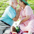Senior Couple Gets Romantic — Stock Photo