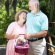 Stock Photo: Senior Couple Has a Laugh