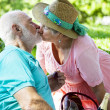 Stock Photo: Senior Couple Kissing
