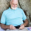 Senior Man with Smart Phone — Stock Photo