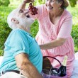 Senior Picnic - Romance — Stock Photo