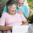 Seniors On 3G Network - Stock Photo