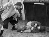 Homeless Abuse — Stock Photo