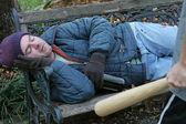 Homeless Man - Defenseless — Stock Photo