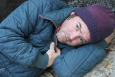 Homeless Man - Soulful Eyes — Stock Photo