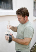 Maler smokeless pinsel — Stockfoto