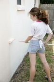 Teen Painting House — Stock Photo