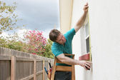 Measuring For Storm Shutters — Stock Photo