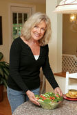 Healthy Living - Serving Salad — Stock Photo