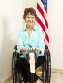 Court Reporter in Wheelchair — Stock Photo