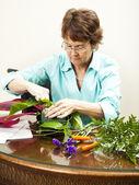 Florist at Work — Stock Photo