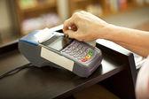 Swiping Credit Card — Stock Photo