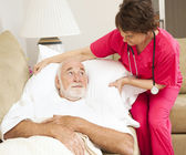 Home Health - Patient Comfort — Stock Photo