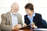 Senior Businessman Signature — Stockfoto