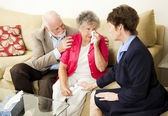 Senior Couple Grief Counseling — Stock Photo