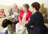 Senior Couples Counseling — Stock Photo