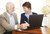 Senior Man Financial Advice — Stock Photo