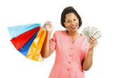 Cash for Shopping Spree — Stock Photo
