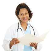 Female African-American Doctor — Stock Photo