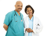 Good Looking Doctors — Stock Photo