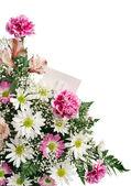 Flower Border Gift Card — Stock Photo