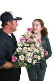 Flowers For Me? — Stock Photo