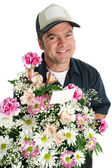 Friendly Flower Delivery — Stock Photo